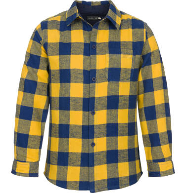 Koszula z długim rękawem dla chłopca, w kratę, 3-8 lat C92F004_1