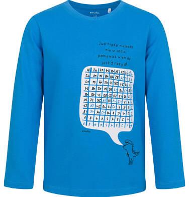 Endo - T-shirt z długim rękawem dla chłopca, z wykreślanką, niebieski, 9-13 lat C03G700_1 45