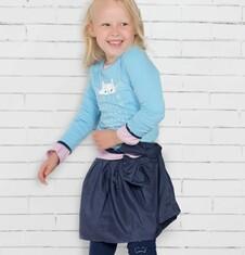 Endo - Satynowa spódnica dla dziewczynki 3-8 lat D72J013_1