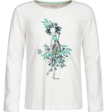 Endo - T-shirt z długim rękawem dla dziewczynki 9-13 lat D82G524_1