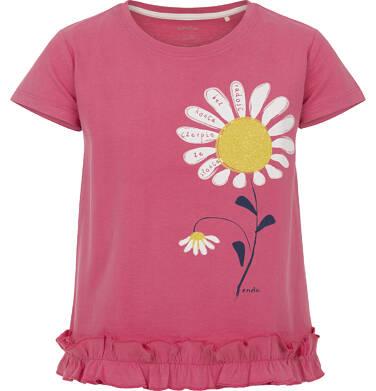 Bluzka z krótkim rękawem dla dziewczynki 9-13 lat D91G609_1