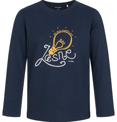 Endo - T-shirt z długim rękawem dla chłopca, z żarówką, granatowy, 9-13 lat C03G702_1 18
