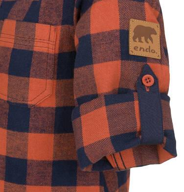 Endo - Koszula z długim rękawem dla chłopca, w kratę, 9-13 lat C92F504_2 14