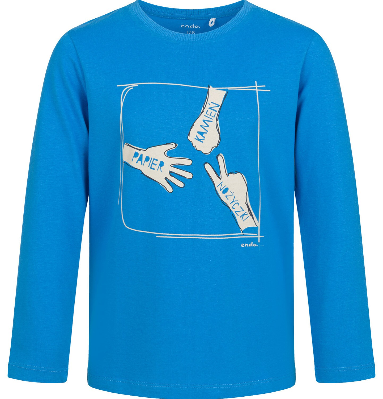 Endo - T-shirt z długim rękawem dla chłopca, z motywem gry, niebieski, 9-13 lat C03G703_1