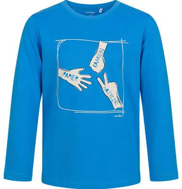 Endo - T-shirt z długim rękawem dla chłopca, z motywem gry, niebieski, 9-13 lat C03G703_1,1