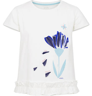 Bluzka z krótkim rękawem dla dziewczynki 9-13 lat D91G609_2