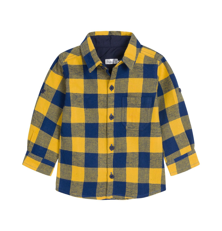 Endo - Koszula z długim rękawem dla dziecka do 3 lat, w kratę N92F009_1