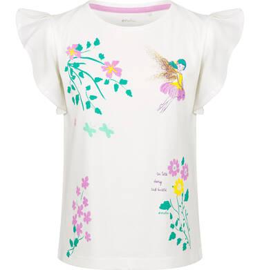 Endo - Bluzka z krótkim rękawem dla dziewczynki, w kwiaty, porcelanowa, 9-13 lat D03G600_1 35
