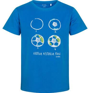 T-shirt z krótkim rękawem dla chłopca, z piłką nożną, niebieski, 2-8 lat C05G101_2