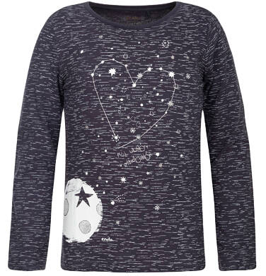 T-shirt z długim rękawem dla dziewczynki 9-13 lat D82G536_1