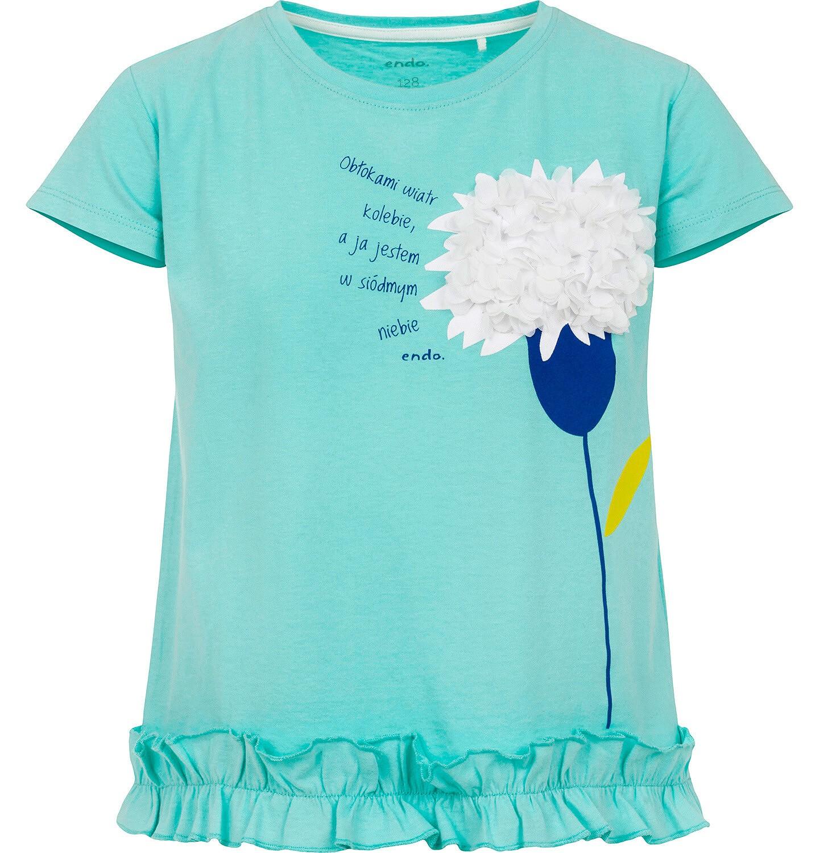 Endo - Bluzka z krótkim rękawem dla dziewczynki 3-8 lat D91G109_3