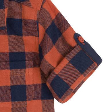 Endo - Koszula z długim rękawem dla dziecka do 3 lat, w kratę N92F009_2 2