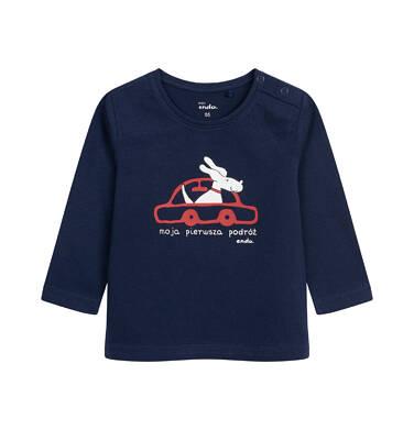T-shirt z długim rękawem dla dziecka do 2 lat, granatowy N04G044_1