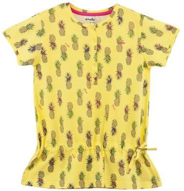 Endo - Bluzka z falbanką w kwiatowy deseń  dla dziewczynki D61G203_1