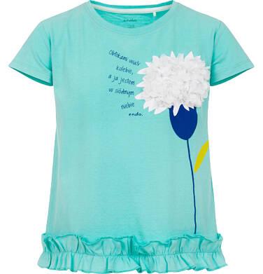Endo - Bluzka z krótkim rękawem dla dziewczynki 9-13 lat D91G609_3