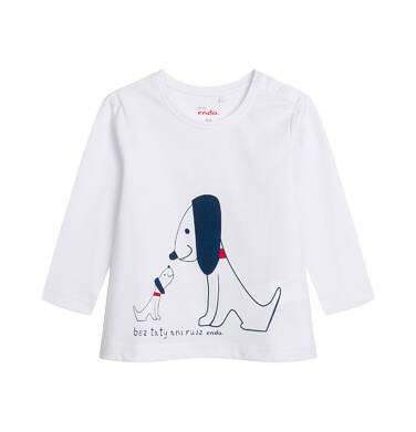 T-shirt z długim rękawem dla dziecka do 2 lat, biały N04G045_1