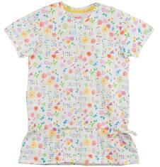 Bluzka z falbanką w kwiatowy deseń  dla dziewczynki D61G204_1