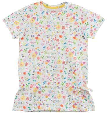 Endo - Bluzka z falbanką w kwiatowy deseń  dla dziewczynki D61G204_1
