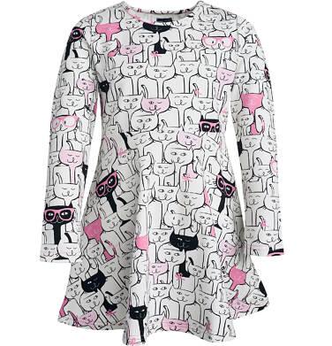Endo - Sukienka z długim rękawem dla dziewczynki 3-8 lat D82H047_1