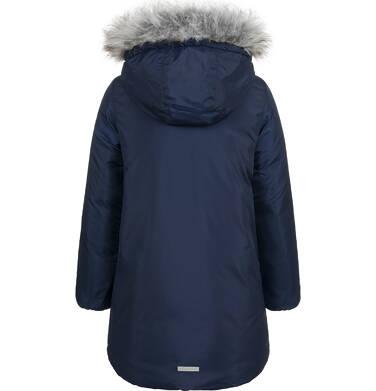Endo - Długa kurtka zimowa, płaszcz z kapturem, granatowy, 9-13 lat D04A012_1,3