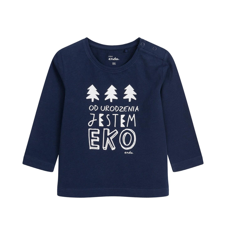 Endo - T-shirt z długim rękawem dla dziecka do 2 lat, granatowy N04G049_1