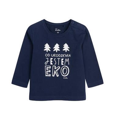 Endo - T-shirt z długim rękawem dla dziecka do 2 lat, granatowy N04G049_1 24