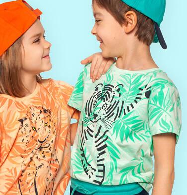 Endo - T-shirt z krótkim rękawem dla chłopca, ze zwierzęcym motywem, zielony, 2-8 lat C05G116_1 24