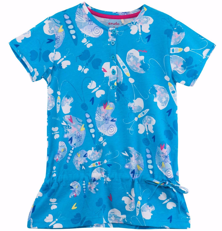 Endo - Bluzka z falbanką we wzorzysty deseń dla dziewczynki D61G205_1