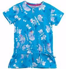 Bluzka z falbanką we wzorzysty deseń dla dziewczynki D61G205_1