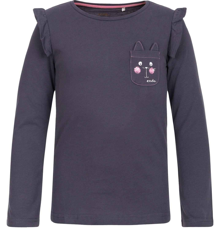 Endo - T-shirt z długim rękawem dla dziewczynki 9-13 lat D82G547_1