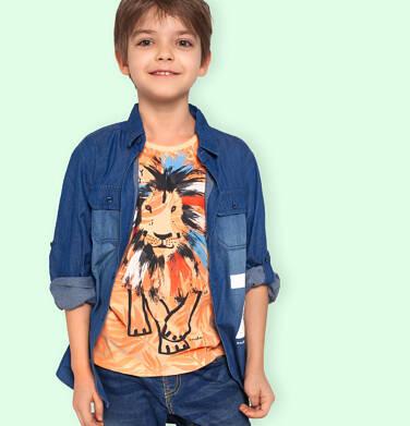 Endo - T-shirt z krótkim rękawem dla chłopca, ze zwierzęcym motywem, pomarańczowy, 2-8 lat C05G117_1 103