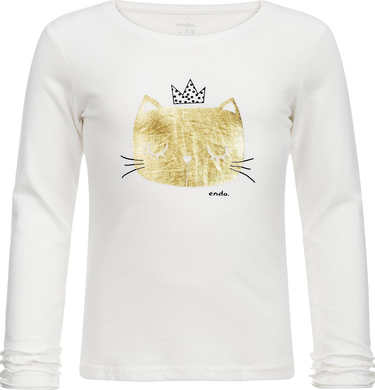 Endo - T-shirt z długim rękawem dla dziewczynki 3-8 lat D82G122_1