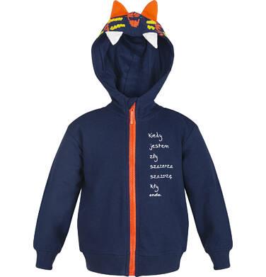 """Endo - """"Kiedy jestem zły szczerze szczerzę kły"""" Bluza z kapturem rozpinana dla dziecka 0-3 lata N82C014_1"""