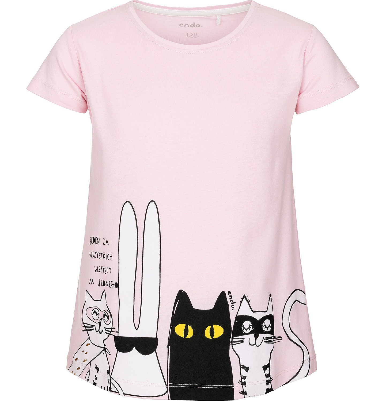 Endo - T-shirt z krótkim rękawem dla dziewczynki 3-8 lat D91G063_1