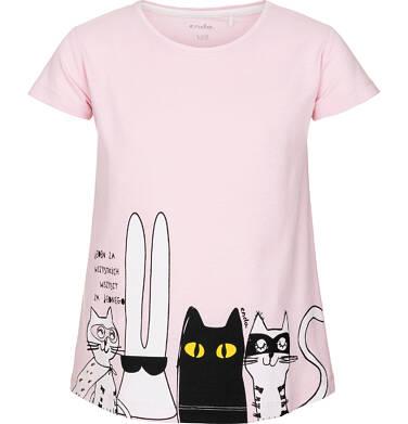 T-shirt z krótkim rękawem dla dziewczynki 3-8 lat D91G063_1