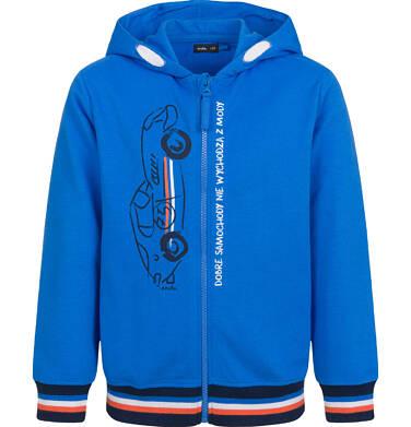 Endo - Rozpinana bluza z kapturem dla chłopca, z autem, niebieska, 2-8 lat C03C021_1 221