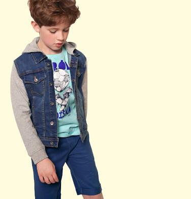 Endo - Krótkie spodenki dresowe dla chłopca, ciemnoniebieskie, 9-13 lat C05K027_2 21
