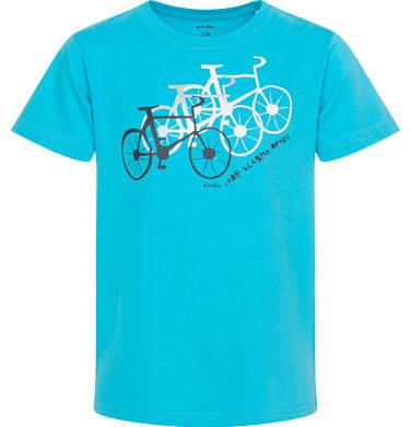 Endo - T-shirt z krótkim rękawem dla chłopca, z rowerami, niebieski, 9-13 lat C05G165_1 114