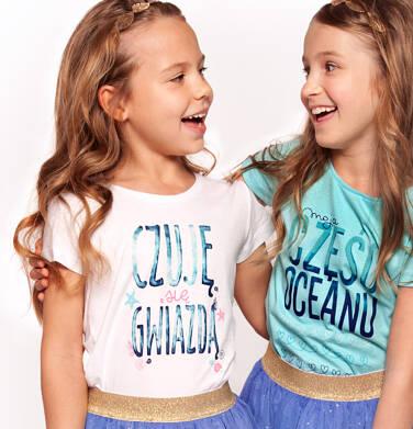 Endo - Bluzka z krótkim rękawem dla dziewczynki 3-8 lat D91G141_1