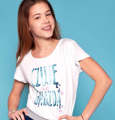 Endo - Bluzka z krótkim rękawem dla dziewczynki 9-13 lat D91G641_1