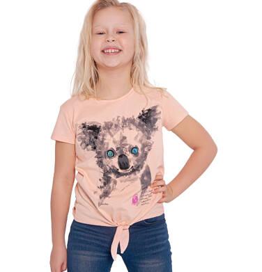 Endo - Bluzka z krótkim rękawem dla dziewczynki, z koalą, pomarańczowa, 9-13 lat D03G603_1 87