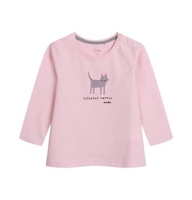 Endo - Bluzka z długim rękawem dla dziecka do 2 lat, różowa N04G066_1 23