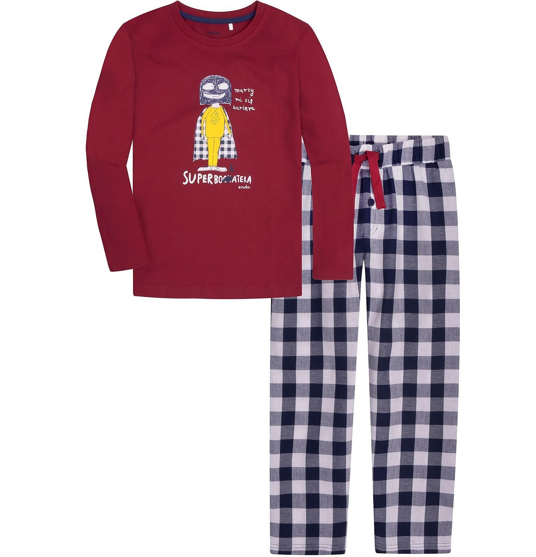 Młodzieńczy Piżama flanelowa dla chłopca 9-13 lat   Piżamy   dla chłopc   Endo SS93