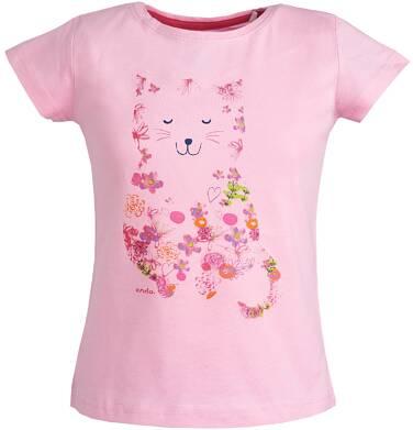 Endo - Bluzka z krótkim rękawem dla dziewczynki 9-13 lat D81G603_2