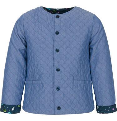 Endo - Dwustronna kurtka dla dziewczynki 9-13 lat, pikowana, kwiatowy deseń D91A510_1