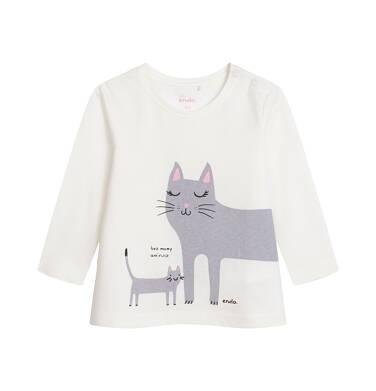 Endo - Bluzka z długim rękawem dla dziecka do 2 lat, kremowa N04G067_1 25