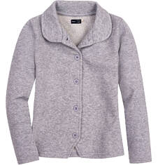 Endo - Rozpinana bluza ze srebrną nitką dla dziewczynki 3-8 lat D62C008_1