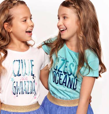Endo - Bluzka z krótkim rękawem dla dziewczynki 9-13 lat D91G642_1