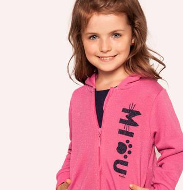 Bluza rozpinana z kapturem dla dziewczynki 3-8 lat D92C008_1