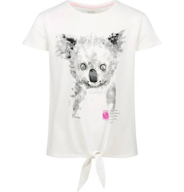 Endo - Bluzka z krótkim rękawem dla dziewczynki, z koalą, porcelanowa, 9-13 lat D03G603_2 32